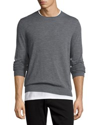 Vince Featherweight Crewneck Sweater Heather Cinder H Cinder