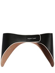 Off White 55Mm Racing Leather Belt Black