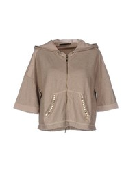 Twin Set Simona Barbieri Topwear Sweatshirts Women Khaki