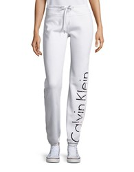 Calvin Klein Logo Drawstring Sweatpants White
