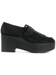 Robert Clergerie Xati Platform Loafers Women Leather Nubuck Leather Rubber 40 Black