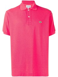 Lacoste Contrast Logo Polo Shirt Pink