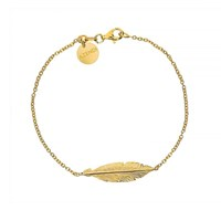 Azendi Silver And Gold Vermeil Feather Bracelet Silver