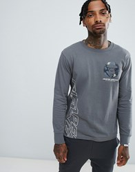 Aape By A Bathing Ape Long Sleeve T Shirt With Space Logo In Grey
