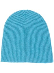 Roberto Collina Cashmere Knitted Beanie Blue