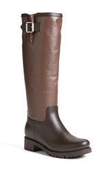 Maison Martin Margiela Rain Boot Women Dark Brown Black