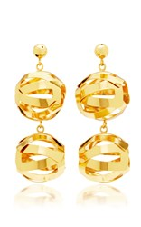 Paula Mendoza Unilla Double Earrings Gold