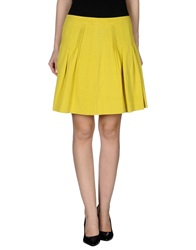 Michelle Windheuser Knee Length Skirts Yellow