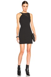 Anthony Vaccarello Strappy Eyelet Mini Dress In Black