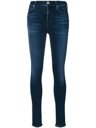 Citizens Of Humanity Classic Skinny Jeans Women Cotton Polyester Polyurethane Rayon 25 Blue