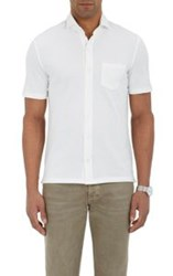 Isaia Button Front Polo Shirt White