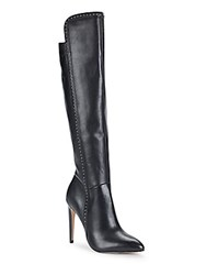 Saks Fifth Avenue Point Toe Over The Knee Boots Black