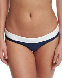 Heidi Klein Cape Cod Striped Hipster Swim Bottom Navy
