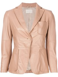 L'autre Chose Classic Fitted Blazer Pink And Purple