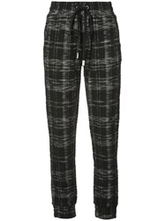 Haculla Signature Eyes Tweed Joggers Black