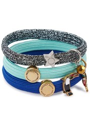Marc Jacobs Parrot Cluster Set Of Three Hair Bands Blue