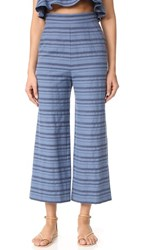 Mara Hoffman High Rise Cropped Pants Denim Multi