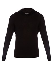 John Varvatos Wool And Cashmere Blend Knit Hooded Sweater