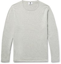 Nn.07 Nn07 Tom Loopback Cotton And Wool Blend Jersey Sweater Stone