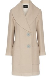 Derek Lam Wool And Mohair Blend Coat Beige