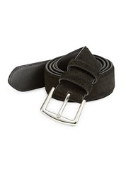 Loro Piana Basic Suede Belt Black