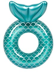 Sunnylife Luxe Inflatable Mermaid Pool Ring Float Blue
