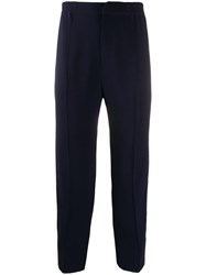 Alexander Mcqueen Sports Crepe Trousers Blue