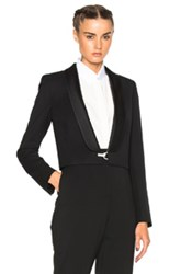 Lanvin Cropped Blazer In Black