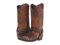 Stetson Averell Snip Washed Crater Brown Cowboy Boots
