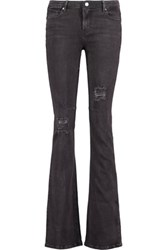 Rta Jackson Mid Rise Distressed Flared Jeans Anthracite