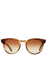 Garrett Leight Boccaccio 50 Tortoiseshell Acetate Sunglasses Brown