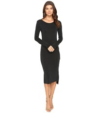 Culture Phit Fleta Long Sleeve Midi Dress With Pocket Black Women's Dress