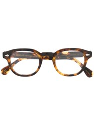 Moscot Round Frame Glasses Brown