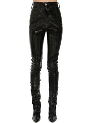Maison Martin Margiela Stretch Vinyl Coated Skinny Pants Black