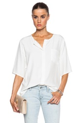 Frame Denim Le Elbow Sleeve Top In White