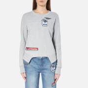 Karl Lagerfeld Women's Jet Patches Sweatshirt Grey