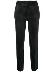 Piazza Sempione Check Tailored Trousers Black