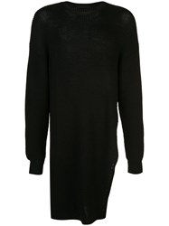 The Viridi Anne Oversized Knit Sweater Black