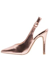 New Look High Heels Rose Gold
