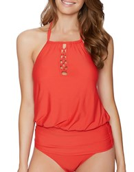 Athena Cabana Solids Cailyn Soft Cup Tankini Red