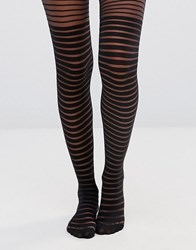 Gipsy Shadow Stripe Tights Black