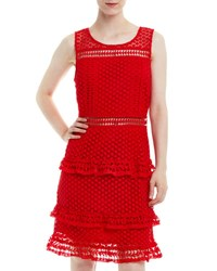 Romeo And Juliet Couture Sleeveless Tiered Crochet Dress