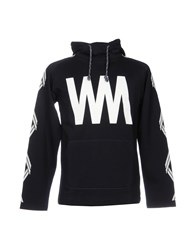 White Mountaineering Sweatshirts Dark Blue