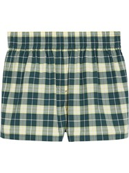 Burberry Checked Shorts Blue