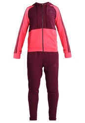 Adidas Performance Energize Tracksuit Maroon Core Pink
