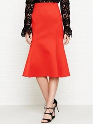 Mcq By Alexander Mcqueen Flared Skirt Red