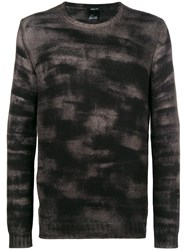 Avant Toi Patterned Sweater Grey