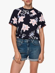 Selected Femme Rinna Floral Print Top Night Sky