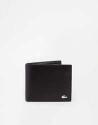 Lacoste Leather Coin Wallet Black