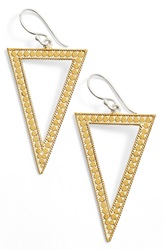 Anna Beck 'Gili' Open Triangle Drop Earrings Gold Silver
